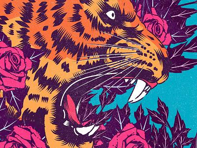 Endless vinyl cover poster design roses tiger aesthetic vector illustrator vector artwork design illustrator graphic design illustration