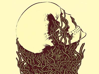 Flesh music vinyl cover poster design skull design vector character graphic design cartoon illustration