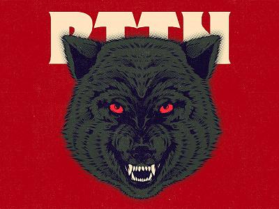 RTTN poster lobo wolf aesthetic logo branding ui character graphic design cartoon vector design illustration