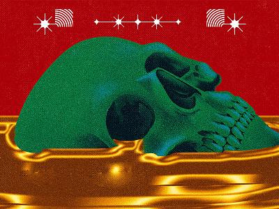 GOLDEN trendy music cover vinyl aesthetic character graphic design cartoon vector design illustration