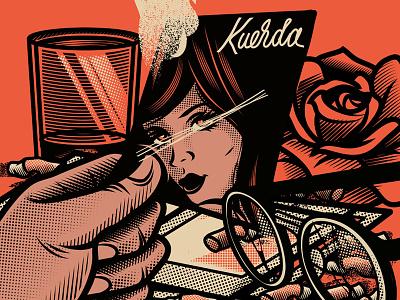 Decisiones skull gore culture pop vector design character cartoon illustration