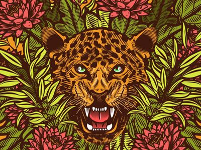 Balam (Jaguar) maya vector artwork jaguar wacom wacom bamboo adobe illustration adobe character stay rotten digital illustration digital vector art illustrator graphic design vector design illustration