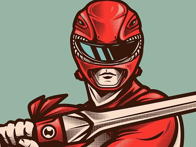 Red Ranger logo gore pop adobe vector stay rotten digital illustration digital vector art illustrator graphic design culture skull character cartoon design illustration