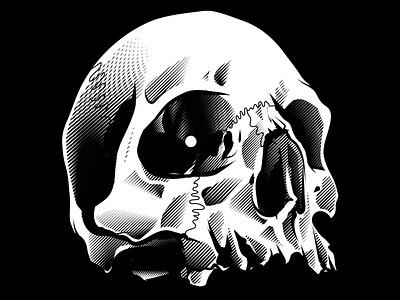 The Lady I character adobe texture draw stay rotten digital illustration digital vector art gore illustrator graphic design skull vector design illustration