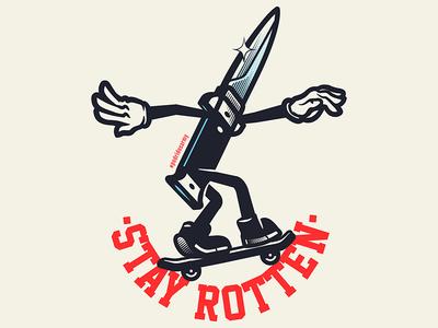 Stay Rotten sticker set sticker texture adobe digital stay rotten illustration digital vector art illustrator graphic design pop culture vector character cartoon design illustration