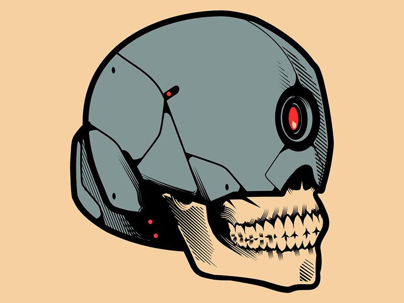 Skullbot stay rotten digital illustration digital vector art illustrator character graphic design skull vector design illustration