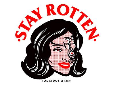 Rotten texture stay rotten illustration digital vector art illustrator graphic design gore vector character cartoon design illustration