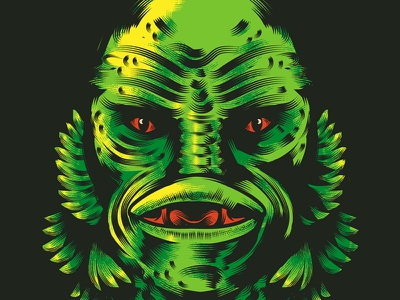 The Creature From The Black Lagoon wacom tablet wacom intuos adobe illustrator vector illustration vector graphic vector design vector artwork stay rotten vector art illustration digital graphic design illustrator character vector design illustration
