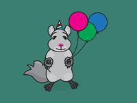 It's my birthday weekend! So I drew a fist-bumping Chinchilla...