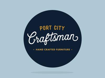Port City Craftsman Label by Sticker Mule