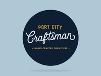 Port City Craftsman Label by Sticker Mule