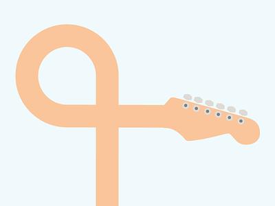 Bendy Guitar headstock fretboard guitar icon flat design illustration vector illustrator adobe