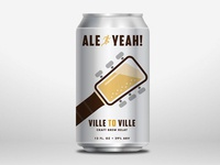 Ville to Ville Relay Beer Can Mockup