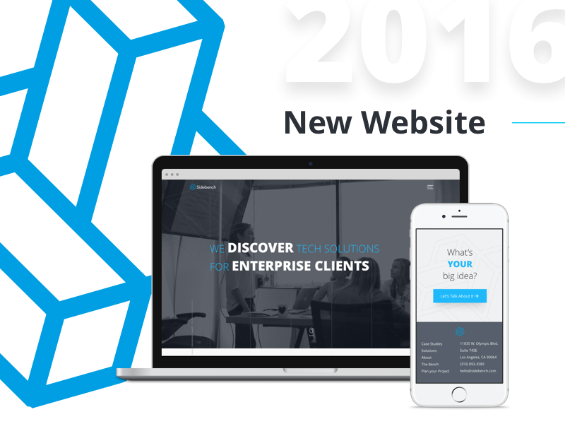 Sidebench refresh uiux design update agency website sidebench