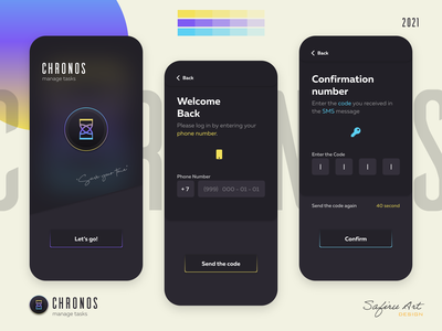 Chronos Manage Tasks flat minimal ux design app design mobile ui mobile app design app mobile design mobile app login screen login