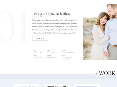 Custom Showit Photography Website typogaphy ui design web classic wedding photography website