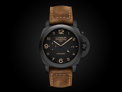 Panerai Luminor 1950 Ceramic über playoff panerai luminor 1950 ceramic watch leather texture leather texture fashion awesome photoshop realistic realism vector illustration