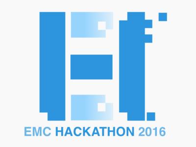 EMC Hackathon Identity hackathon logo identity