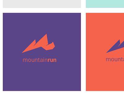 MountainRun Logo visual design design branding