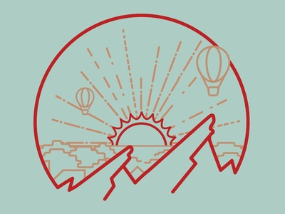 Flatirons Sunrise boulder drawing illustration tshirt