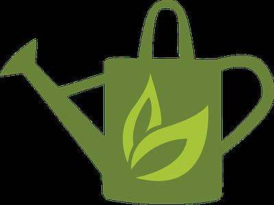 Garden Grow Logo design flat branding logo vector app