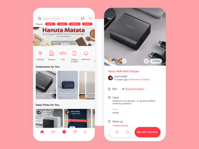 Carousell App Design ux ui mobile ios interface app