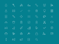 Dog Care icon set