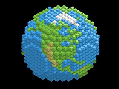 Isometric Cube Globe globe pixel isometric cube