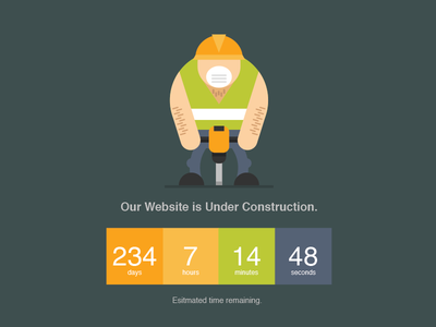 Jackhammer svg animated under construction coming soon