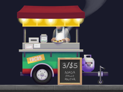 Street tacos affinitydesigner taco truck taco cart mexican tacos food truck food card