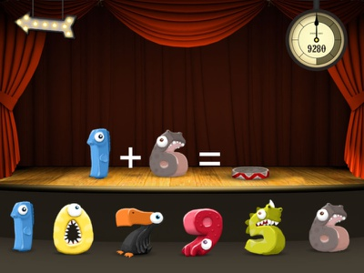 Math Monsters Game photoshop numbers games educational math game