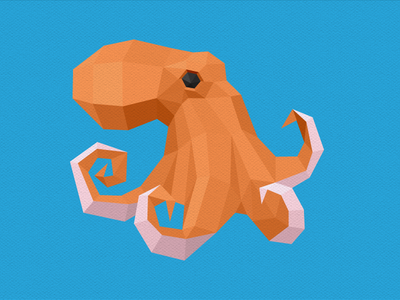 Dribbble Octopus octopus geometric low-poly low poly polygons