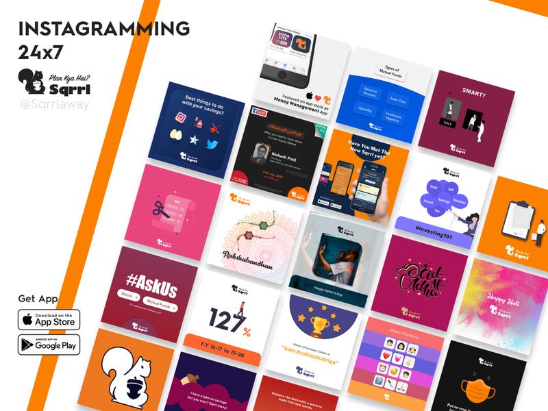 Engaging Social Media Content for Millennials content design finance illustration instagram post socialmedia branding