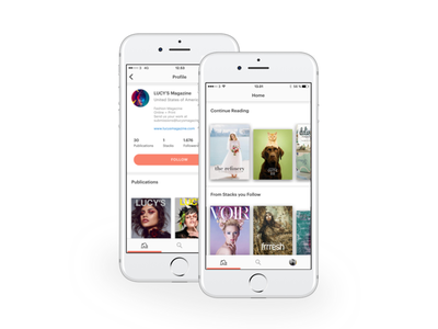 issuu iOS app 2.0 tangerine white ui ux ios design app apps