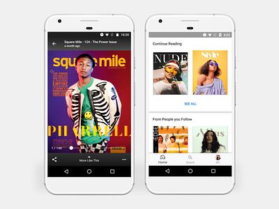 issuu Android App 5.2.4 design ux ui white black issuu app apps android