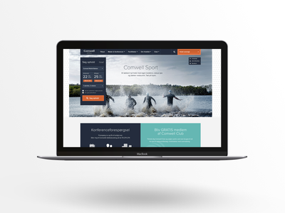 Comwell photoshop redesign search booking rebrand design comwell