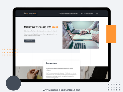 Eazee Accountax free mockup html template mobile app design app design branding ui deisgn payroll accounting accounting software