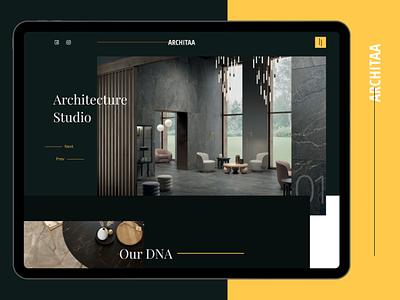 Architecture  Studio vector ui ui design mobile app design app design ui deisgn branding design interaction interior architecture website architecture logo