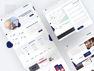 ForeMedia Landing page design mobile app design ui design app design branding design ui deisgn web app ui ux landing page web design uidesign hebrew type hebrew