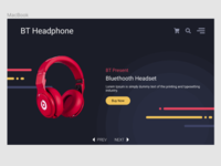 Headphone Landing Page UI Design