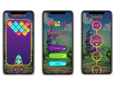 Block Shutter Game UI Design website animation vector ux ui mobile app design illustration app design design branding ui deisgn ui design game art game design