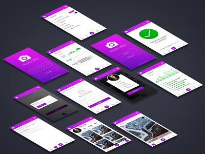 Photovilla Mobile App UI Design app ux branding design mockup psd mockup mobile app design ui design ui app design ui deisgn