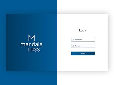 Mandala | Login Page UI Design ux web ui app mobile app design app design ui design ui deisgn branding design