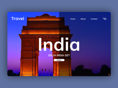 Get Travel | Landing Page UI Design illustration icon ui app mobile app design app design ui design ui deisgn design branding