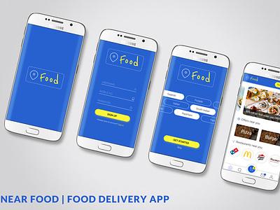 Near Food App UI Design Mockup typography web design ux app ui mobile app design app design ui design ui deisgn