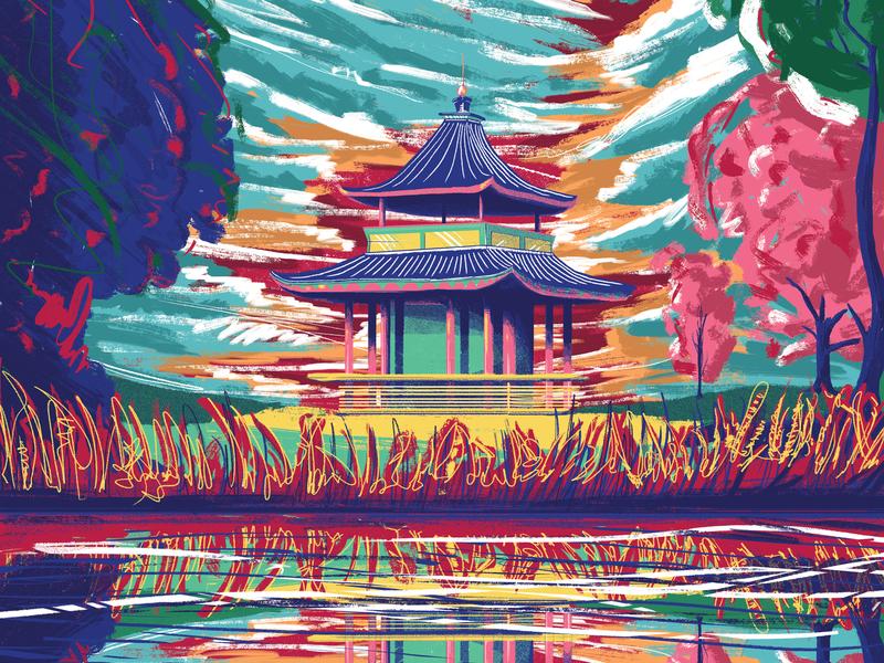 Victoria Park illustration agency illustrator illustration england victoria park london