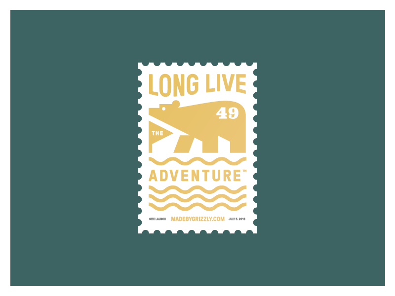 Site Launch Commemoration Stamp illustration postage new site cheers oban commemoration grizzly adventure wilderness stamp bear site launch