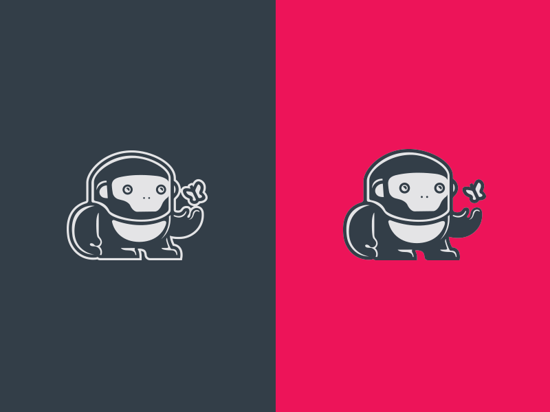 Let It Go...rilla tech butterfly gorilla identity illustration logo