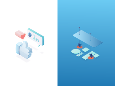 Iso Iso  vector security tech isometric illustration icons