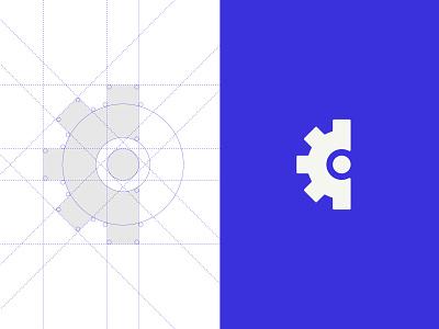 Creativity Is _____ Podcast Identity creativity san diego podcast industrial cog pattern logo branding identity